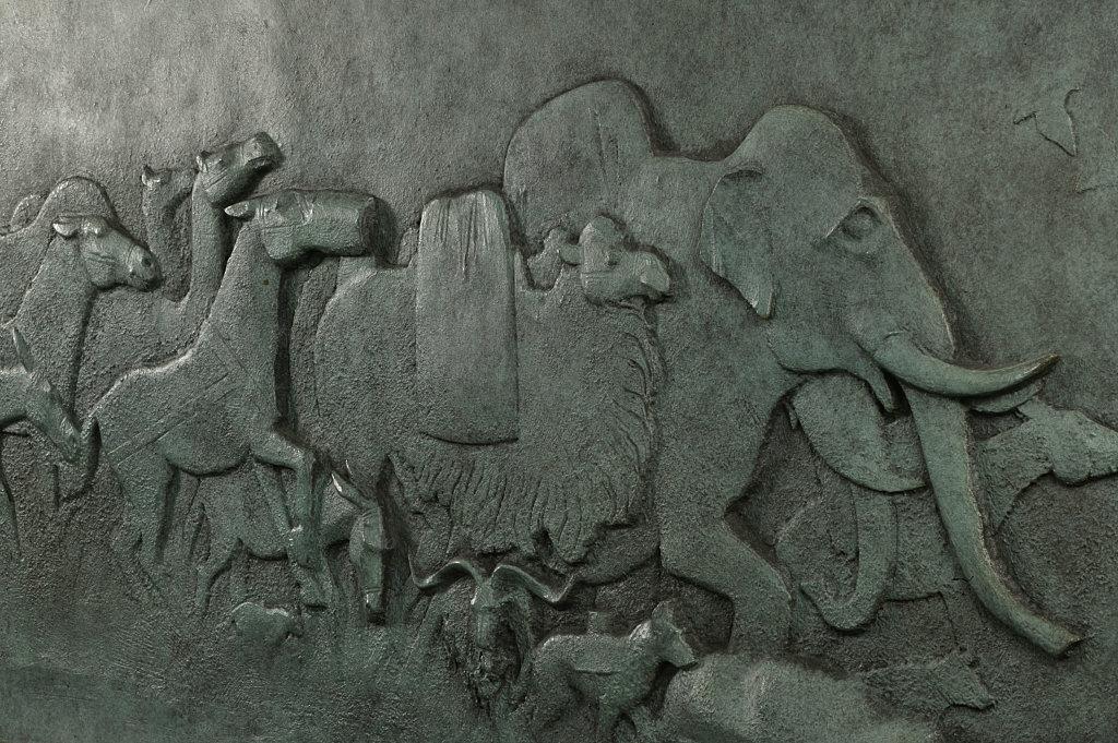 Detail of model for Animals in War Memorial