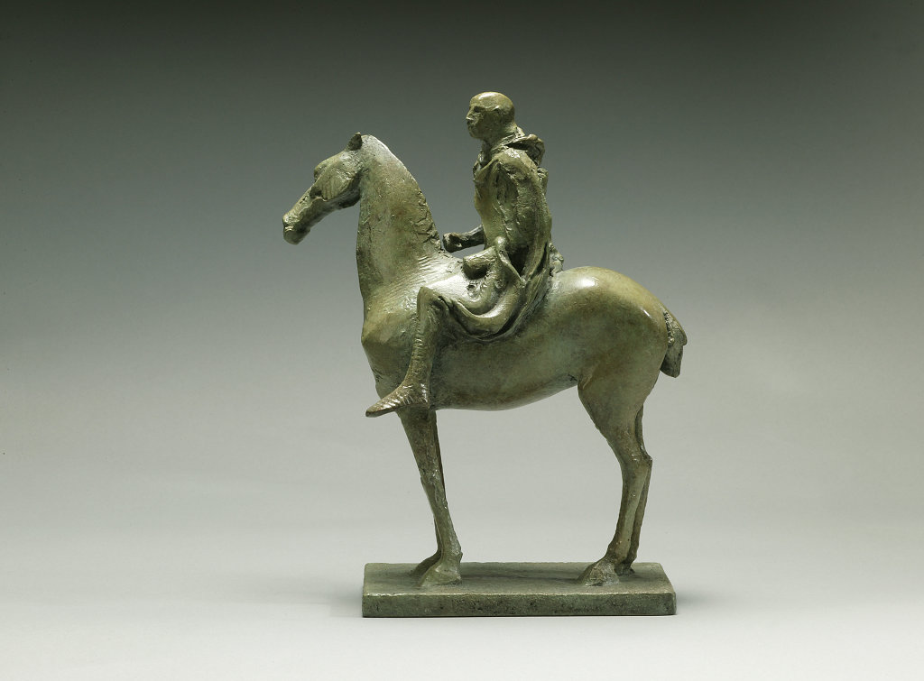 Maquette for Cloaked Horseman